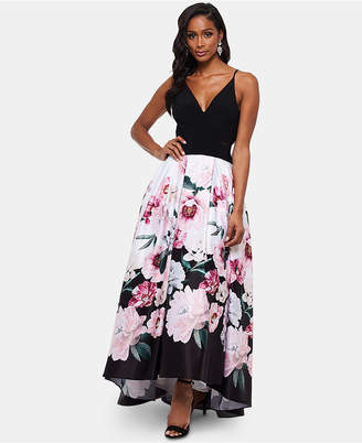 Xscape Evenings Floral Skirt Gown