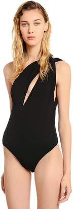 Alexandre Vauthier One Shoulder Stretch Jersey Bodysuit