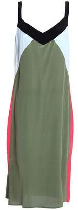 Equipment Color-block Silk Crepe De Chine Dress