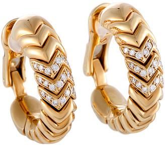 Bulgari Heritage  18K 0.50 Ct. Tw. Diamond Earrings