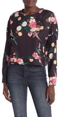 Love, Fire Floral Cropped Crew Sweatshirt