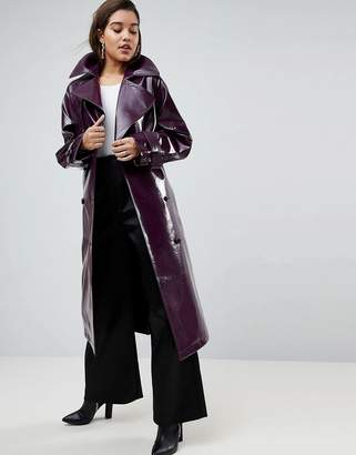Asos Design Oversized Trench in Vinyl