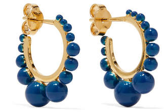 Aurelie Bidermann Ana Gold-plated Beaded Hoop Earrings