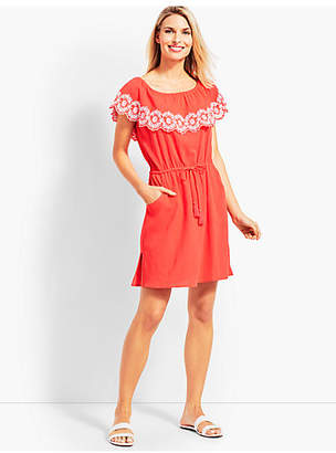 Talbots Embroidered Off-The-Shoulder Cover-Up