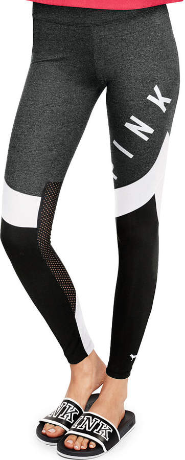 PINK Cotton Mesh Yoga Legging