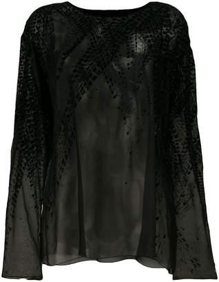 Alexandre Vauthier velvet detail blouse