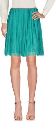 Peacock Blue Knee length skirts