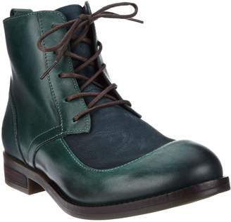 Fly London Leather Lace-up Ankle Boots - Arty