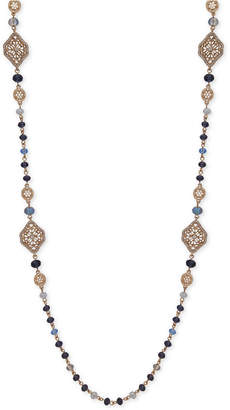 """lonna & lilly Gold-Tone Bead & Filigree 38"""" Statement Necklace"""