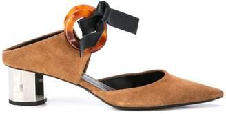 Proenza Schouler Tortoise Grommet Block Heel Mules
