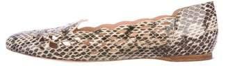 Nina Ricci Snakeskin Laser Cut Flats