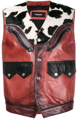 DSQUARED2 western waistcoat