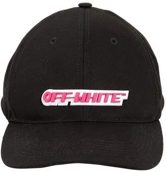 Off-White Off White Logo Patch Canvas Baseball Hat