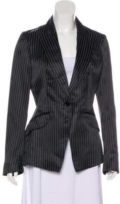 Alexander McQueen Striped Silk Blazer