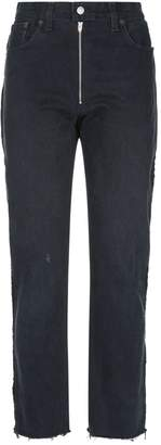 Fringed High Rise Jeans