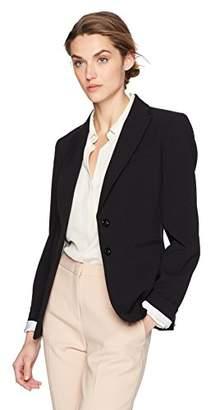 Tahari by Arthur S. Levine Women's 2 Button Bi Stretch Cuffed Sleeve Jacket