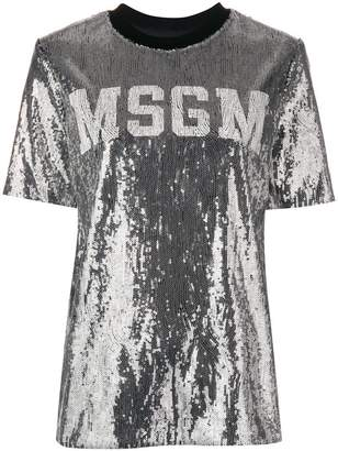 MSGM all over sequin T-shirt