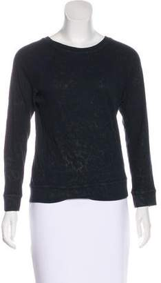 Current/Elliott Long Sleeve Scoop Neck Top