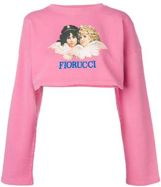 Fiorucci Vintage Angels crop sweatshirt