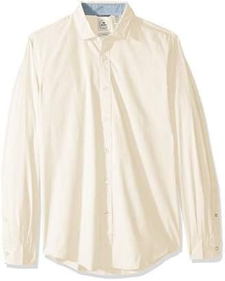 Dockers Long Sleeve Slim Refined Poplin Button Front Woven Shirt