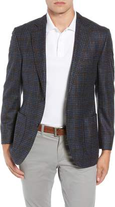 Kroon Bono 2 Classic Fit Check Wool & Cashmere Sport Coat