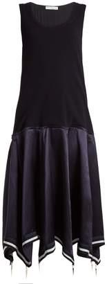J.W.Anderson Umbrella skirt knit and satin midi dress