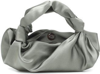 The Row The Ascot Small satin clutch