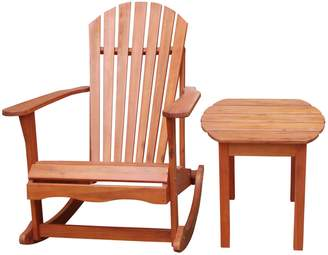 Adirondack International Concepts 2-pc. Porch Rocker & Side Table Set