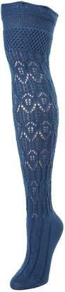 Me Moi MeMoi Glace Diamond Pointelle Boot Sock - Over the Knee Knit Socks