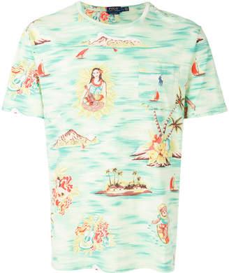 Polo Ralph Lauren Hawaiian motif T-shirt