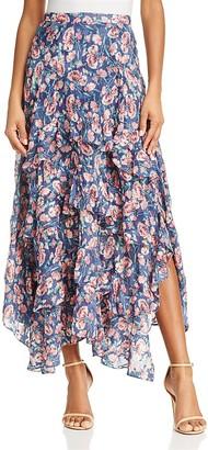 Rebecca Taylor Tea Rose Silk Ruffle Maxi Skirt $595 thestylecure.com