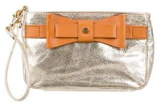 Tory Burch Metallic Leather Wristlet