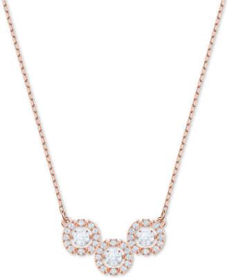 "Swarovski Crystal 3D Cage Triple-Circle Pendant Necklace, 14-4/5"" + 4"" extender"