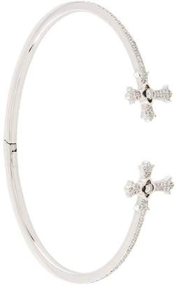Elise Dray diamond twin cross bracelet