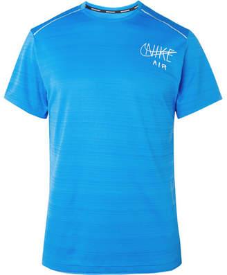 Nike Running Miler Logo-Print Dri-Fit T-Shirt