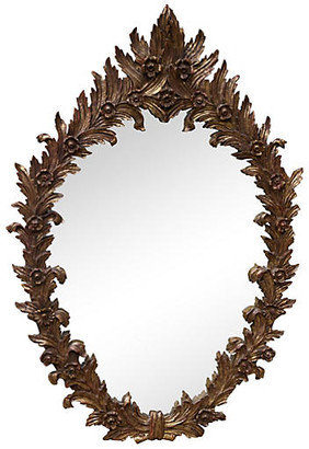 One Kings Lane Vintage Italian Carved Giltwood Mirror
