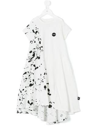 Nununu splash paint effect dress