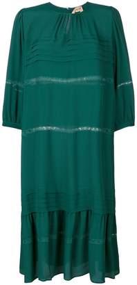 No.21 lace trim mid-length dress
