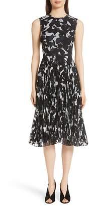 Jason Wu Pleated Chiffon Dress