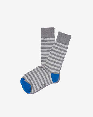 Express Solid Heel Stripe Dress Socks