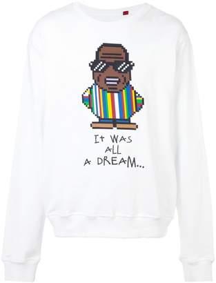 Mostly Heard Rarely Seen 8-Bit Dadcore print sweatshirt