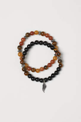 H&M 2-pack Bracelets with Beads - Black