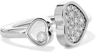 Chopard Happy Hearts 18-karat White Gold Diamond Ring