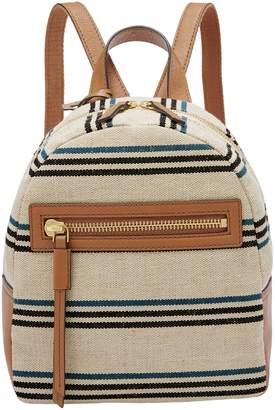Fossil Mini Megan Striped Backpack