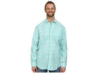 Tommy Bahama Big Tall Squarely There L/S Button Up Men's Long Sleeve Button Up