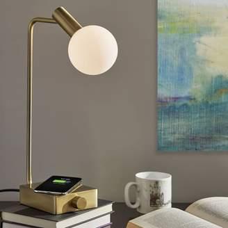 west elm Modern Deco LED Charging Table Lamp + USB