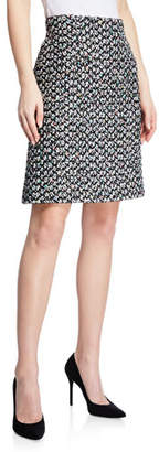 Escada Multi-Tweed A-Line Mini Skirt