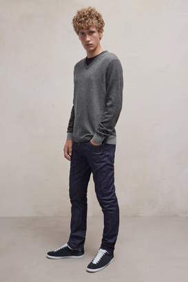 French Connection Patchwork Lambswool V Neck Jumper