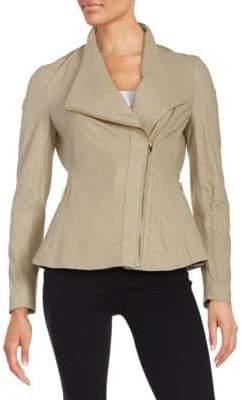 Via Spiga Lightweight Leather Jacket