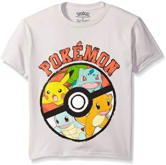 Pokemon Little Boys Pikachu Lightning Poly Performance Short Sleeve Tee